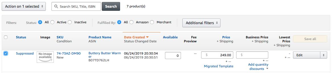 creating FNSKUs on Amazon
